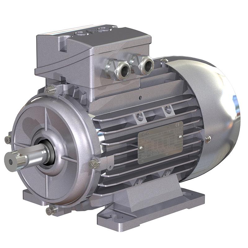Electric motor 0 75 kw b5 flange 50 60hz 230 400 v for 10 kw dc motor