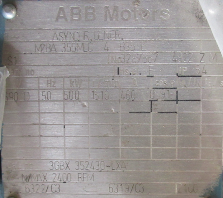 Generator ABB 500 kW | Spares in Motion