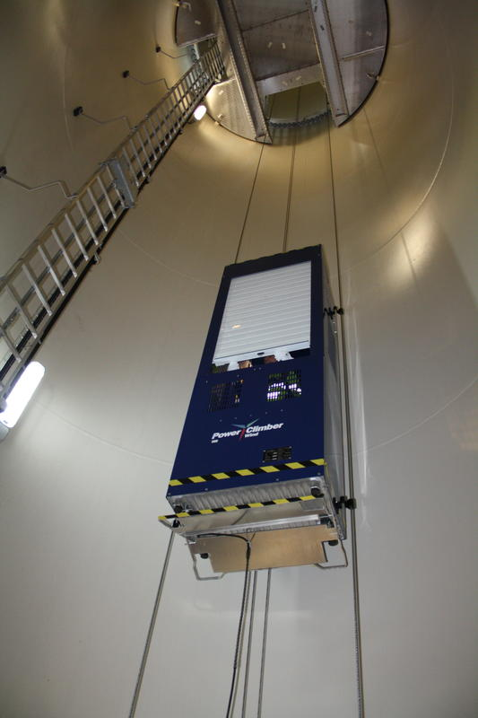 Power Climber Service Lift for wind turbines | Spares in Motion