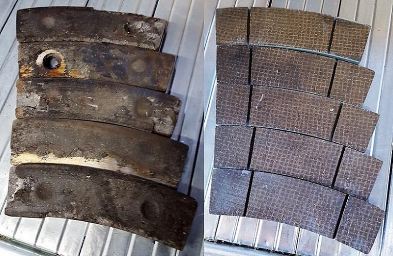 Brake Pad And Lining : Refurbished brake pads rebuilding new lining