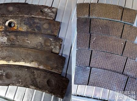 REFURBISHED BRAKE PADS REBUILDING BRAKE PADS, NEW LINING 0