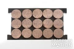 Sintered brake pads DT15 for Eocyle* wind turbines. Copper base friction material DT15 0