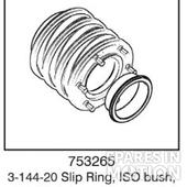3-144-20 Slip Ring, ISO bush, No Earth Ring (8.5° offset)