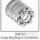 3-way Slip Ring with isolation bush, 150mm outer diameter, 30mm thickness