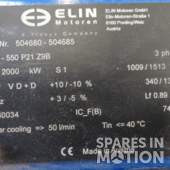 Generator Elin 2000/500kw-960v-50hz for a NM-2000/72 wind turbine