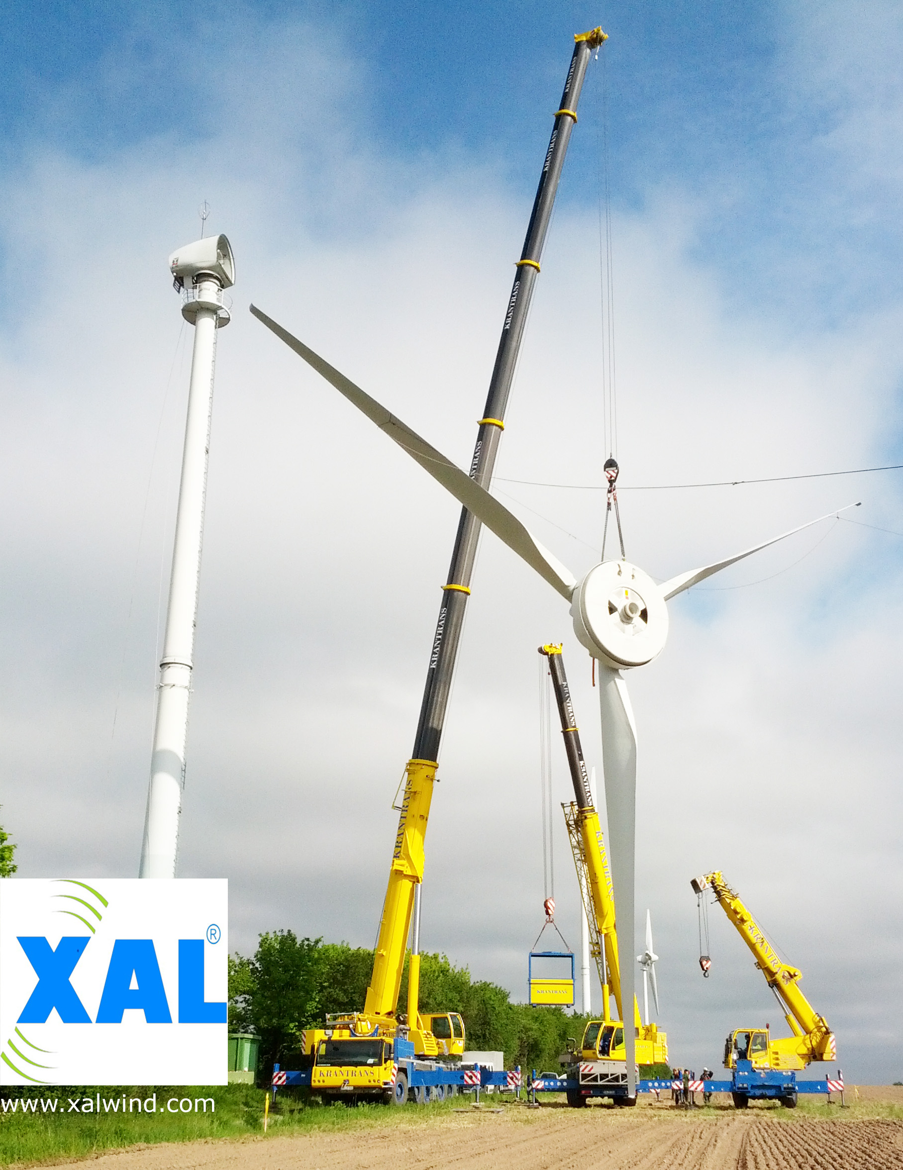 Wind turbine dismantling ENERCON & VESTAS